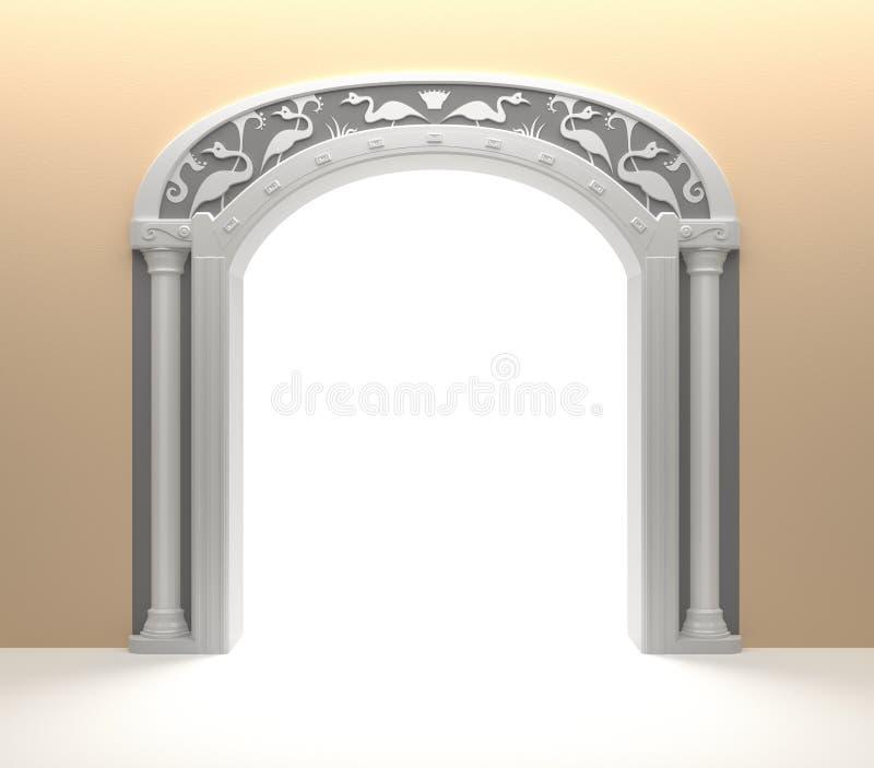 Portello incurvato con la decorazione dell'annata royalty illustrazione gratis