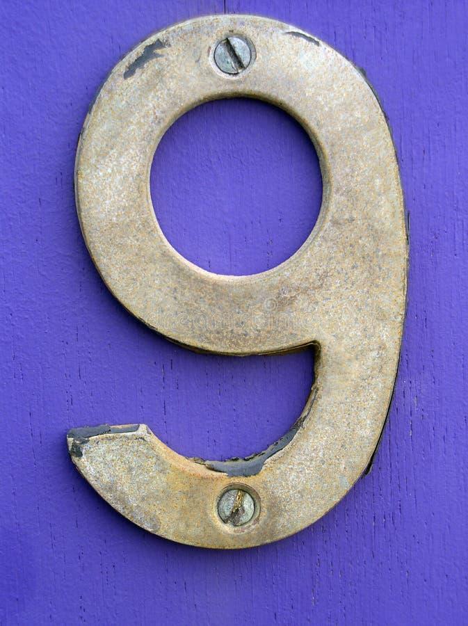 Portello Inglese Numero (nove) Fotografia Stock