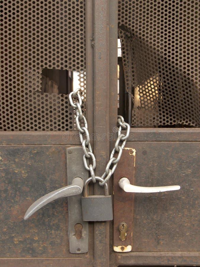 Portello Locked immagine stock