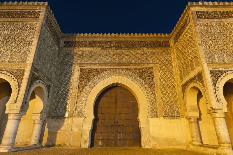 Portello a Meknes, Marocco dell'en Nouar di Bab Jama fotografia stock