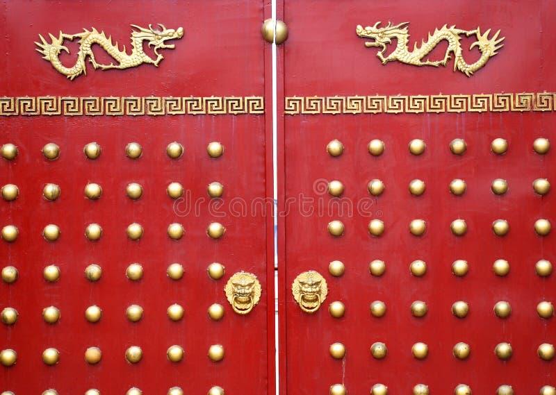 Portello rosso cinese immagini stock libere da diritti
