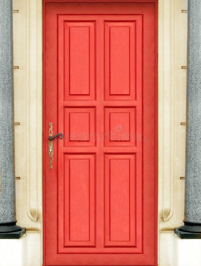 Portello rosso esterno immagini stock libere da diritti