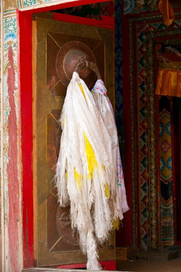 Portello tibetano con la sciarpa di hada fotografie stock libere da diritti