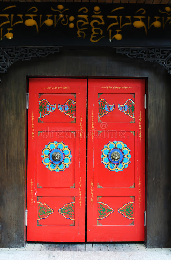 Portello tibetano di stile fotografia stock libera da diritti