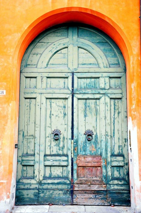 Portello toscano blu in Italia fotografie stock