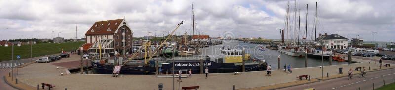 Porten av Oudeschild, Nederländerna 05 07 2007 royaltyfri fotografi