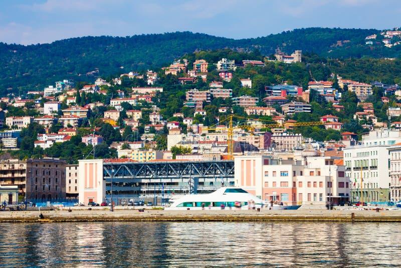Porten av Trieste Hav och landskap arkivbilder