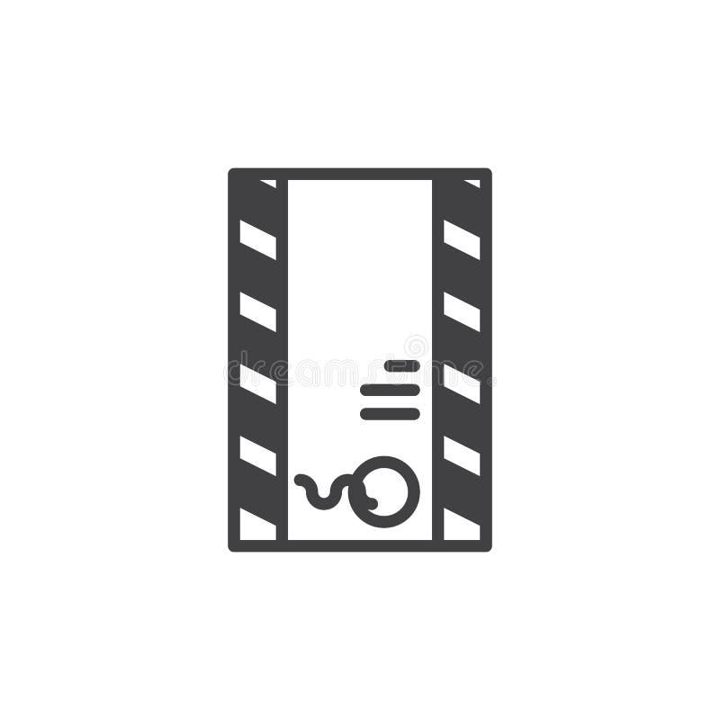Portenvelop met de vector van het zegelpictogram vector illustratie