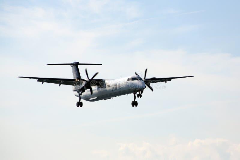 Download Porter Airline jet landing editorial stock image. Image of blue - 26405954