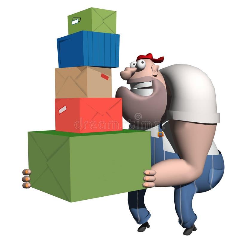 Download Porter des cadeaux illustration stock. Illustration du père - 73099