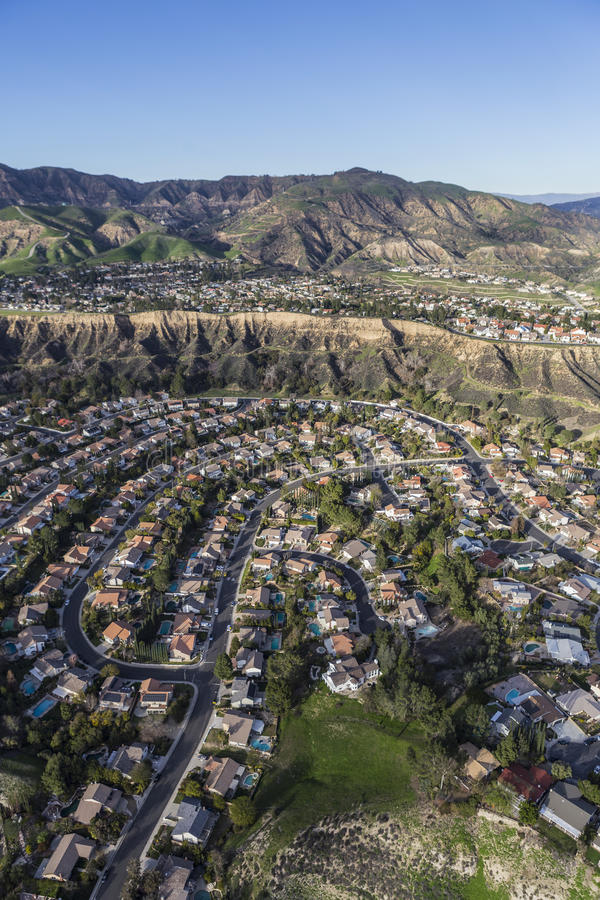 Porter Ranch California Aerial View royaltyfria bilder