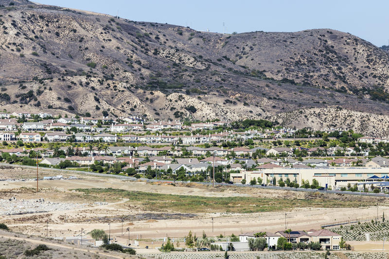 Porter Ranch California New Homes royaltyfri foto