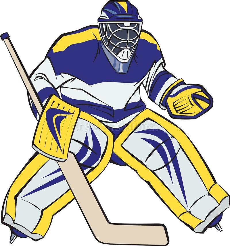 Portero del hockey sobre hielo ilustración del vector