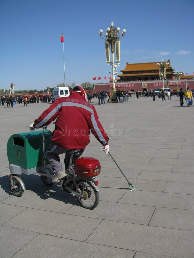Portero móvil en Pekín fotografía de archivo
