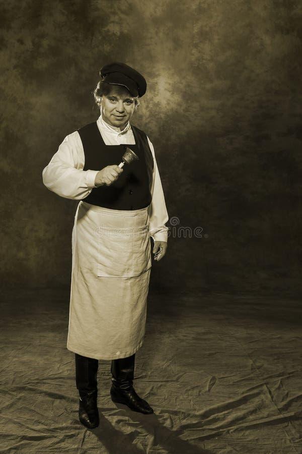 Portero ruso del siglo XIX fotografía de archivo