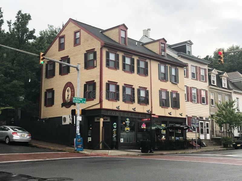 Porters' Pub in Easton, Pennsylvania stock afbeelding