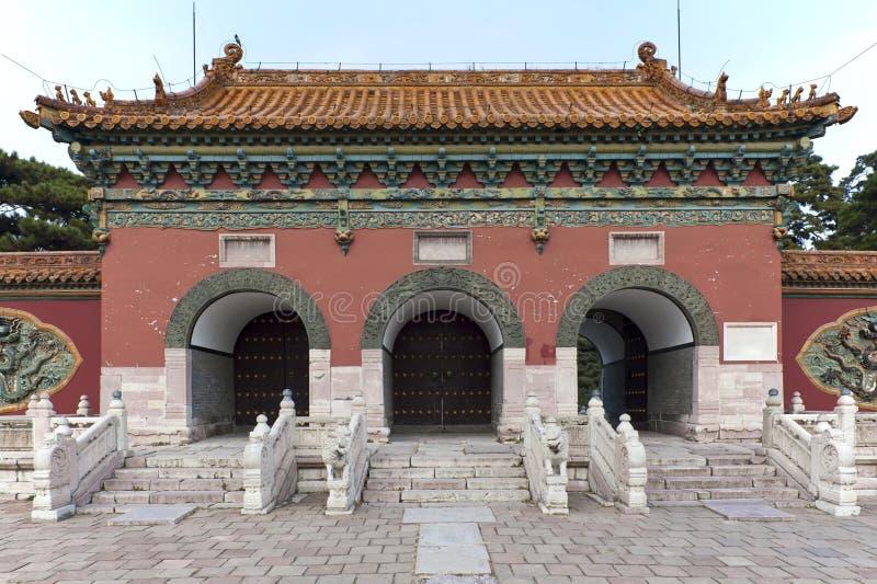 Portes à la tombe de ZhaoLing image stock