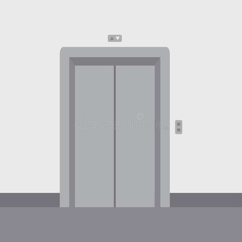 Portes étroites d'ascenseur illustration stock