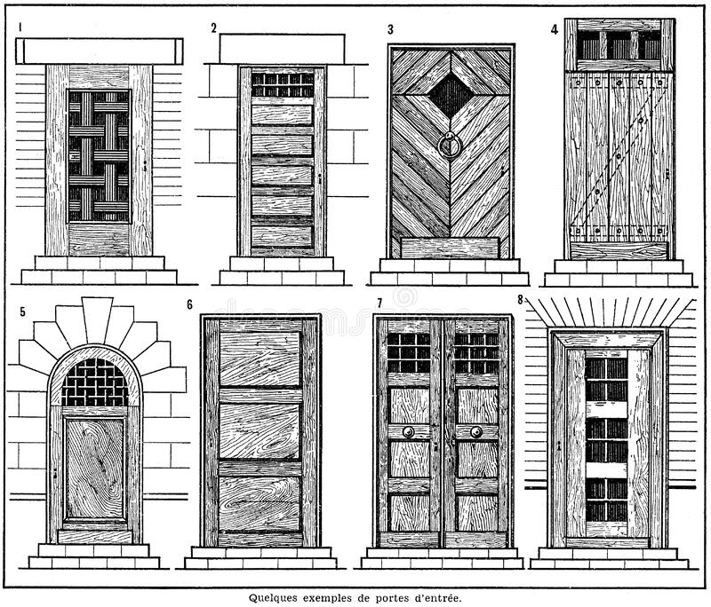 Download Portes-1 stock image. Image of  - 83006851