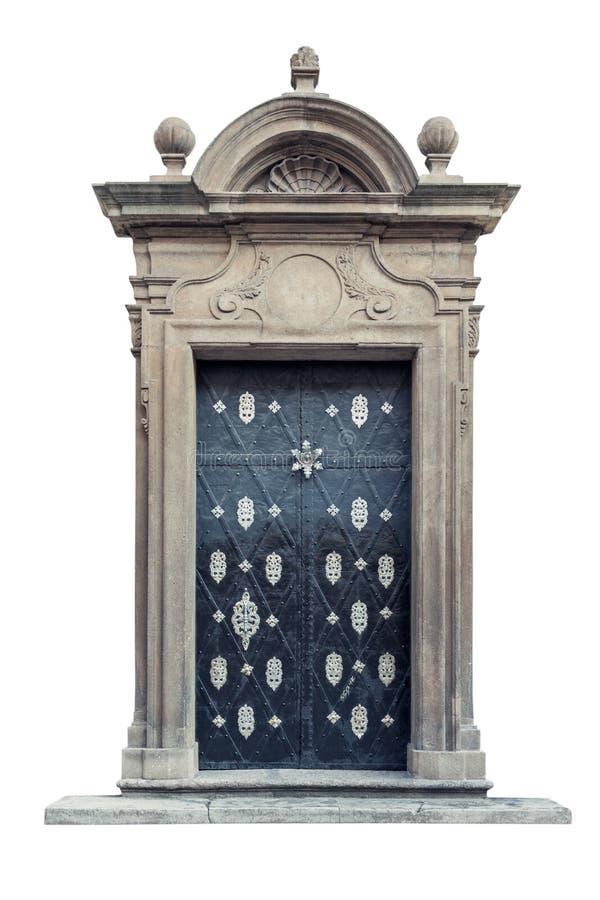 Portes baroques décoratives de palais d'isolement photos libres de droits