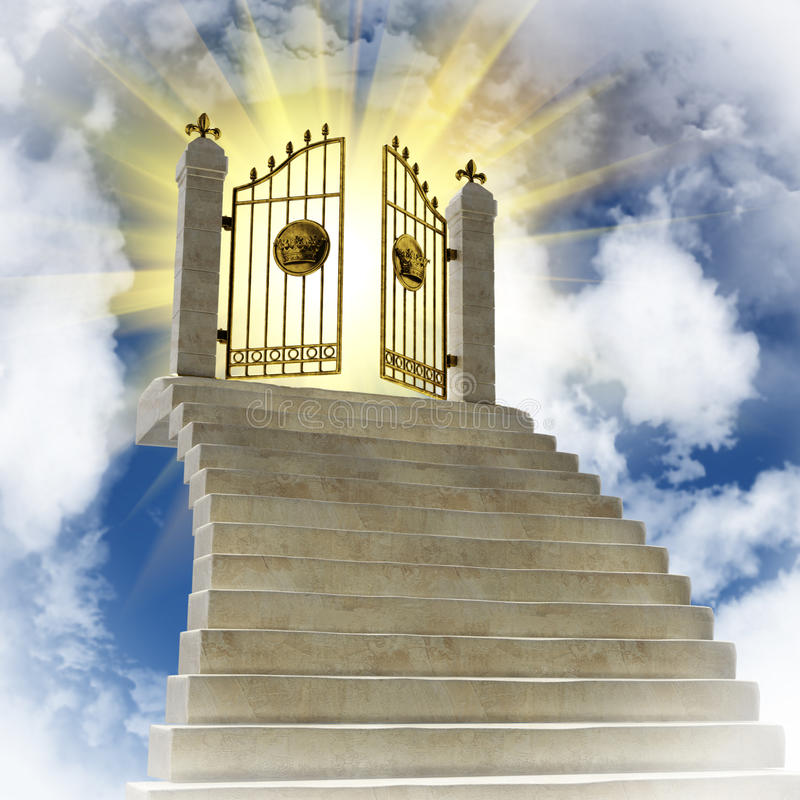 Portes d'or illustration libre de droits
