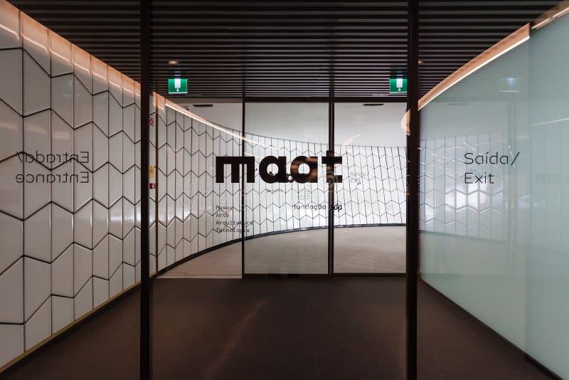Portes d'entrée du MAAT - Musée d'Art, architecture et technologie photos stock