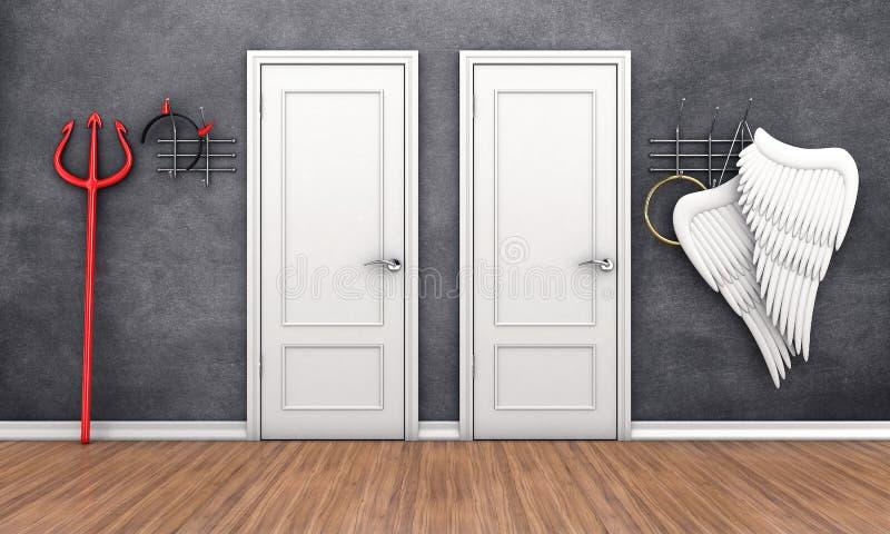 Portes dans différents endroits illustration libre de droits