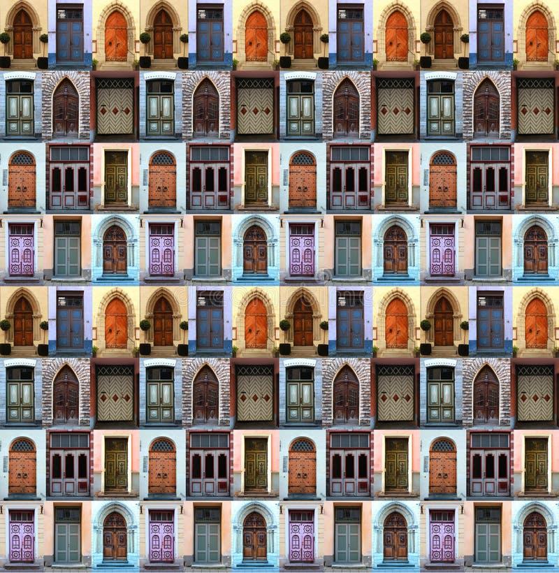 Portes de collage images libres de droits