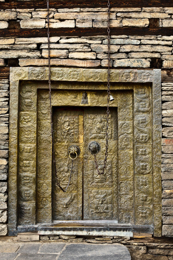Portes de fort de Sangla images stock