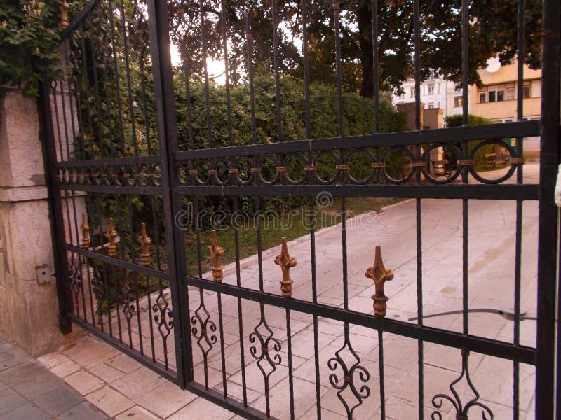 Portes de l'église photographie stock