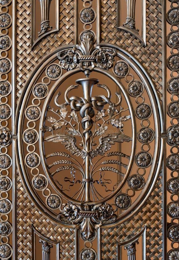 Portes métalliques détail, texture de fond photo stock