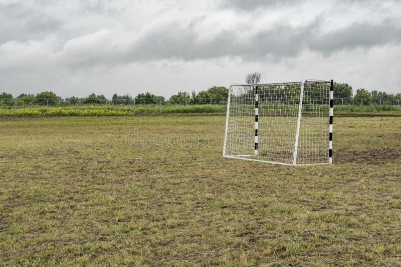 Portes pour le mini football images stock