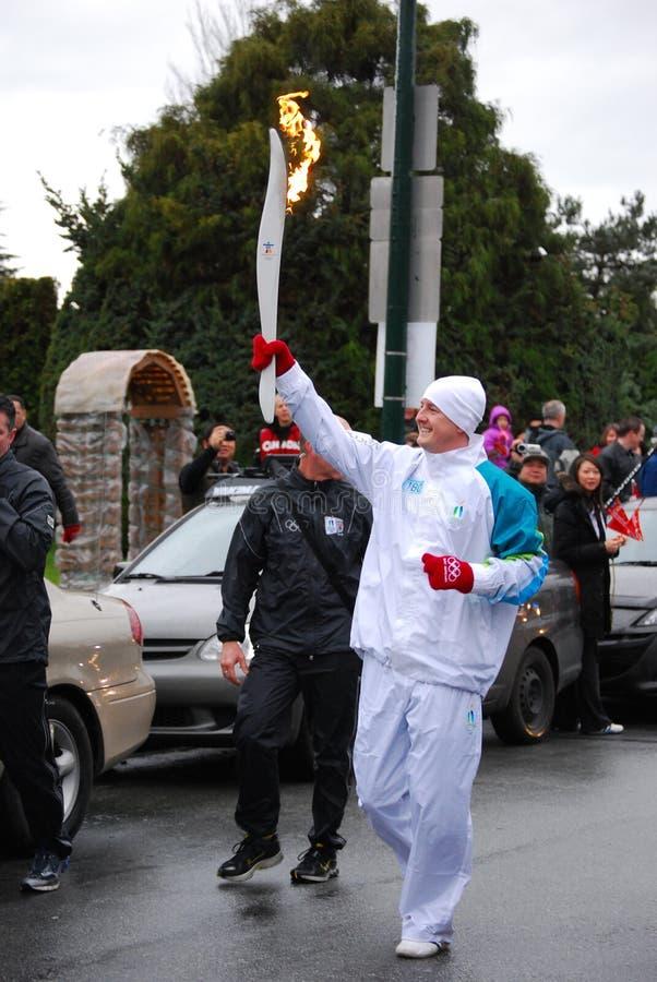 Porteur olympique de torche images libres de droits