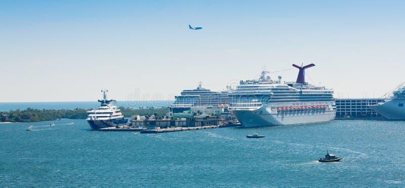 PortEverglades i Fort Lauderdale, Florida royaltyfria foton