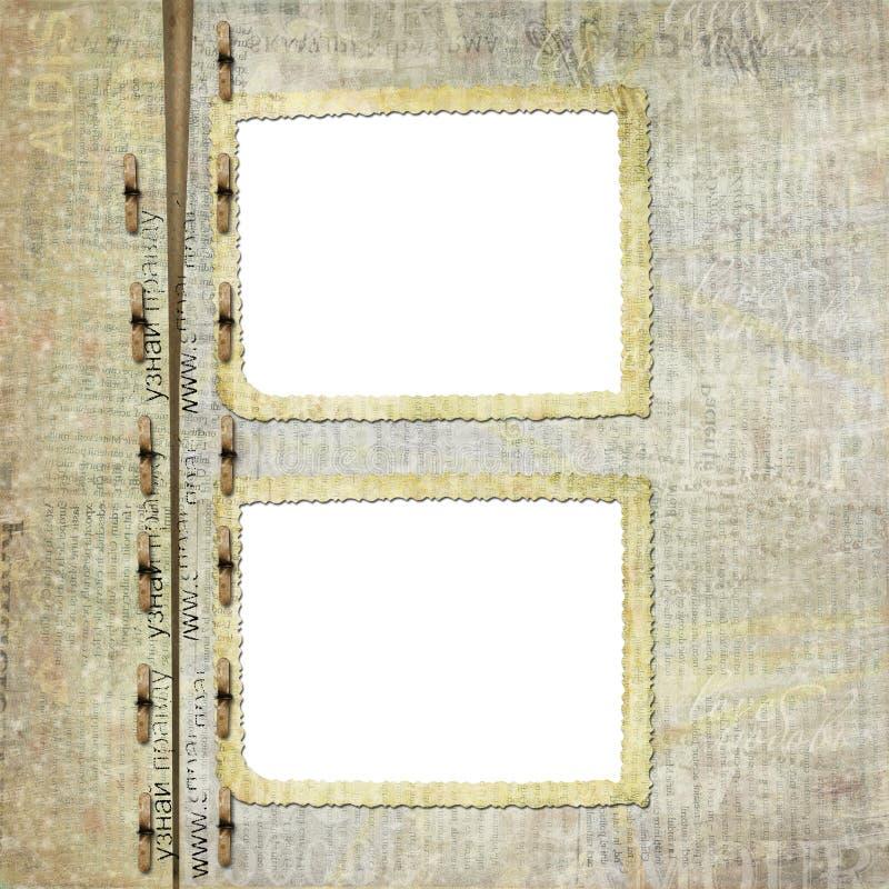portfölj för albumräkningsgrunge stock illustrationer