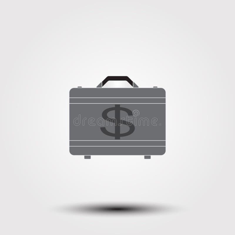 Portfölj mycket av pengarsymbolen royaltyfri illustrationer