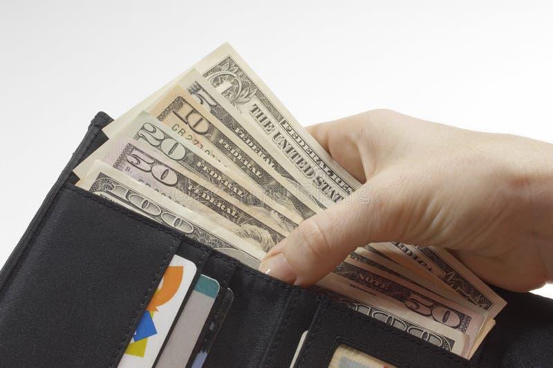 Portfel Pełno pieniądze fotografia stock