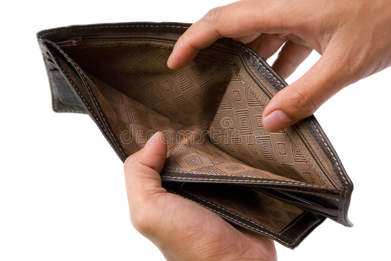 portfel pieniądze żadny portfel zdjęcie royalty free