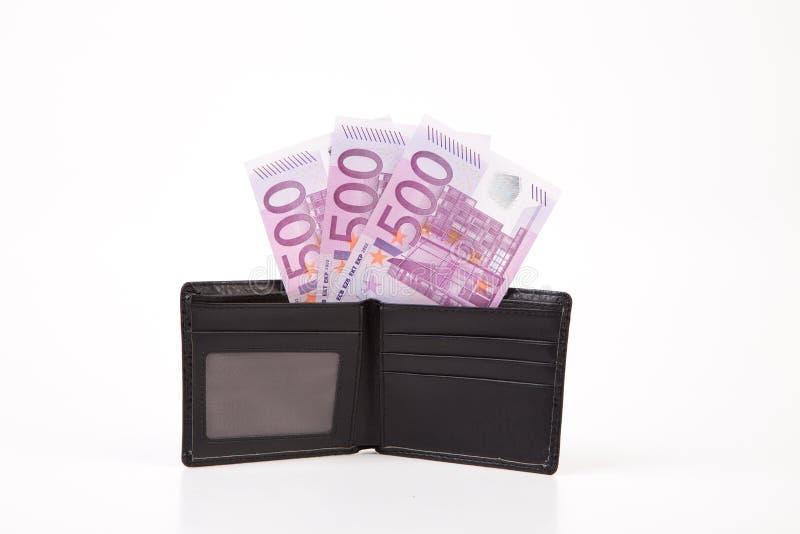 Portfel z euro banknotami zdjęcia royalty free