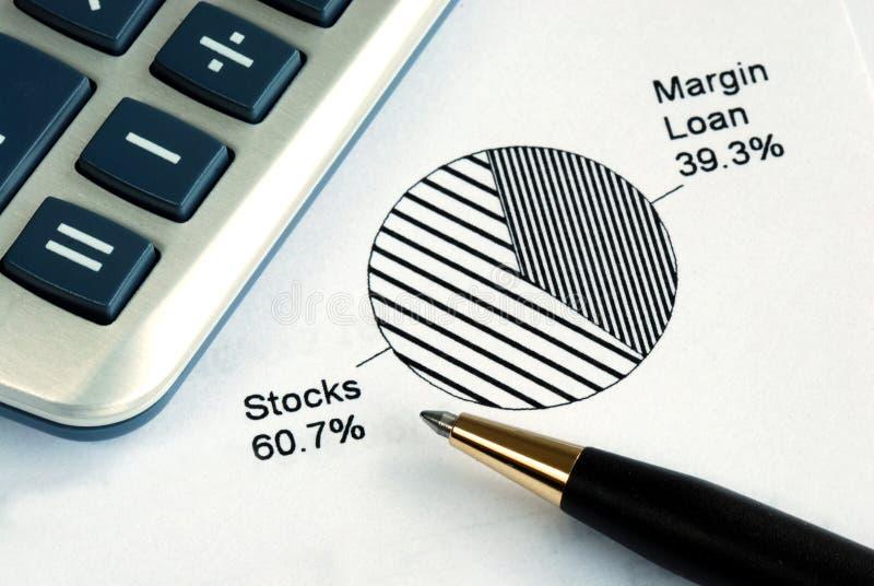Portfolio allocation. Illustrates the asset in a pie chart royalty free stock photos