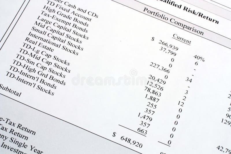Download Portfolio Comparison stock image. Image of business, economy - 6406775