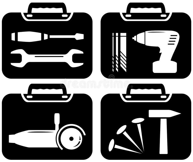 Portfolio i narzędzia dla naprawy ilustracji
