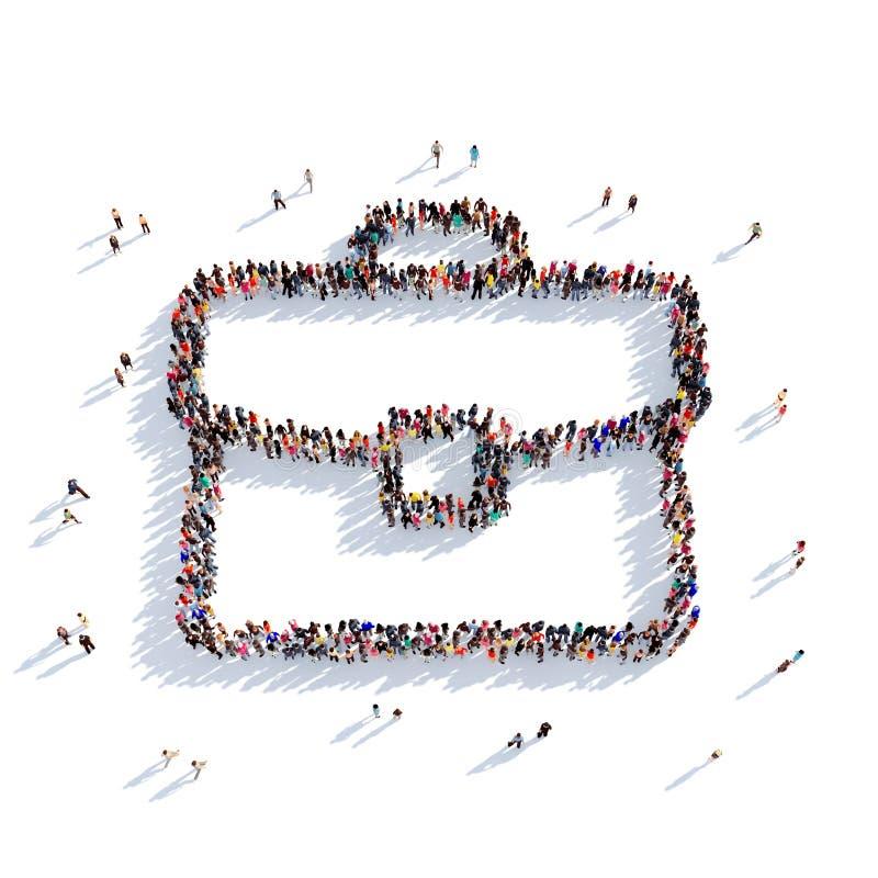 Portfolio people 3d vector illustration