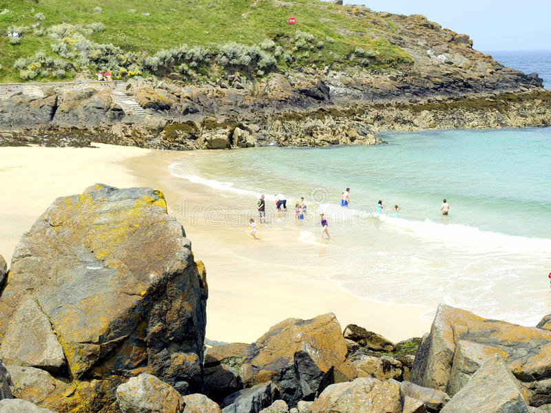 Portgwiddenstrand, St. Ives, Cornwall. royalty-vrije stock foto's