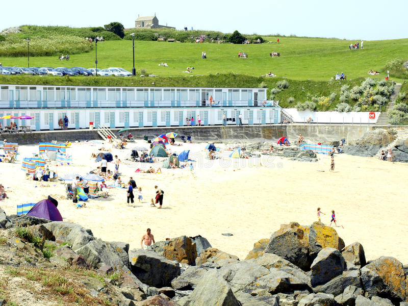 Portgwiddenstrand, St. Ives, Cornwall. royalty-vrije stock foto