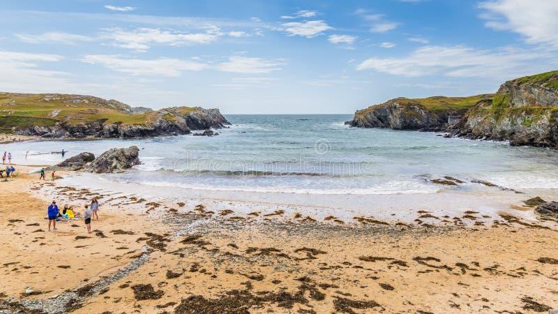 Porth Dafarch, Anglesey, βόρεια Ουαλία, UK στοκ φωτογραφία με δικαίωμα ελεύθερης χρήσης
