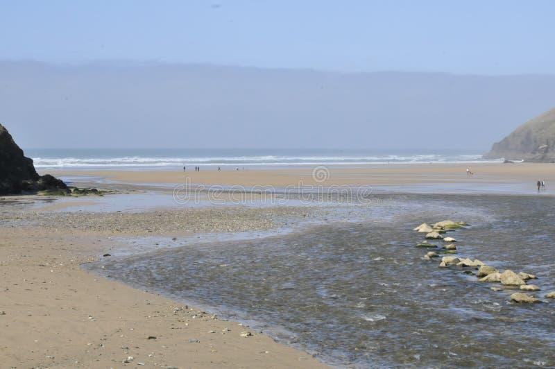 Porth strand arkivfoton