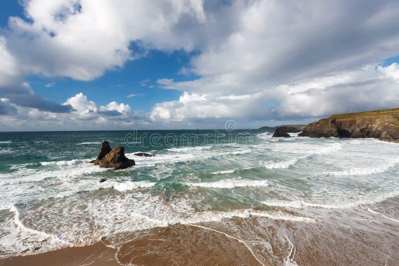 Download Porthcothan Zatoka Cornwall Anglia Obraz Stock - Obraz złożonej z inspiracyjny, fotografia: 41955395