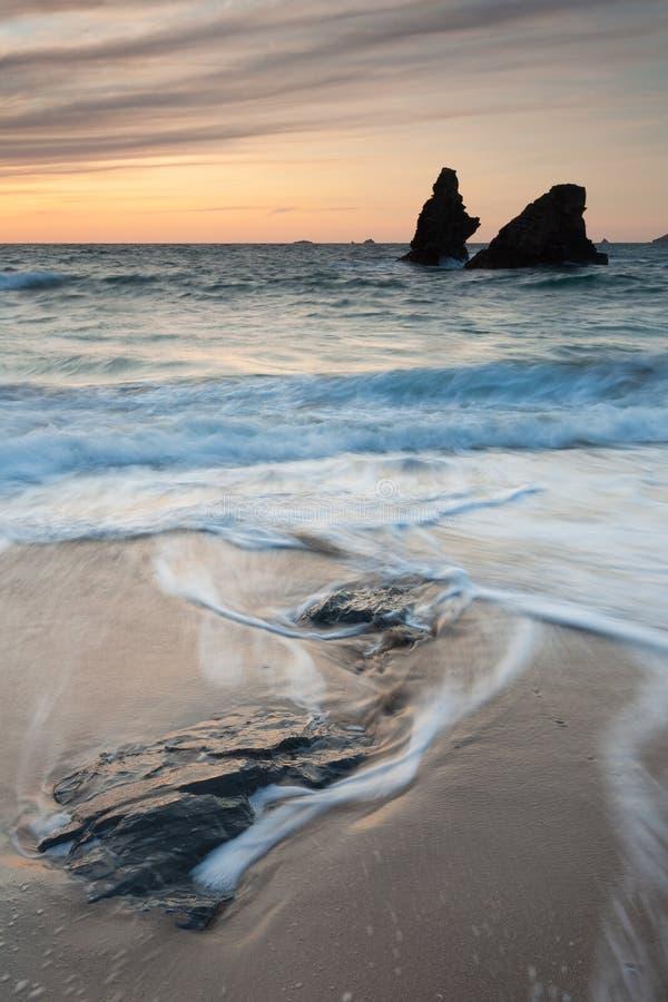 Download Porthcothan Zatoki Zmierzch Zdjęcie Stock - Obraz złożonej z sceniczny, seashore: 41955398
