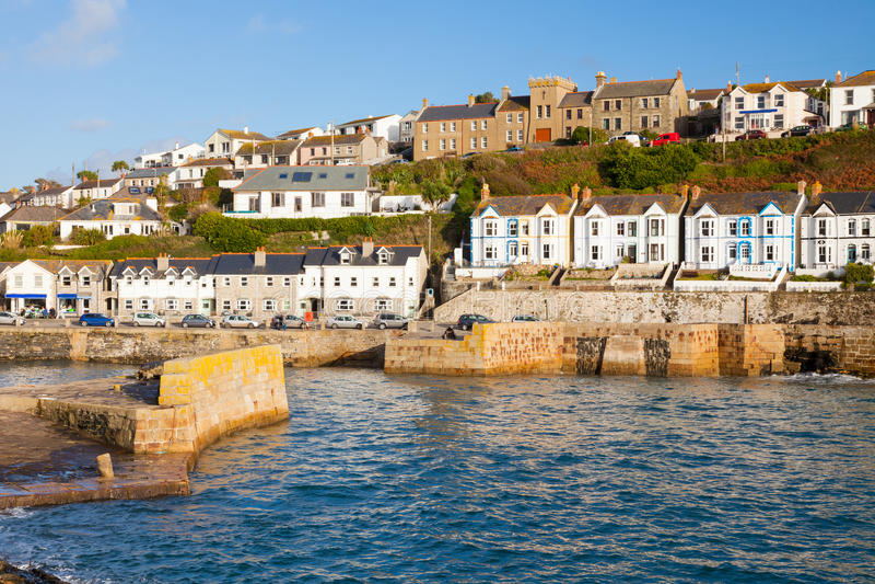 Porthleven Cornwall England royaltyfria bilder